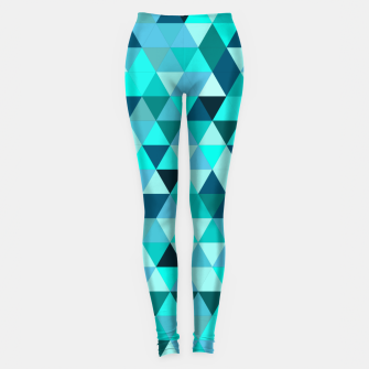 Thumbnail image of Teal Triangles Pattern Leggings, Live Heroes