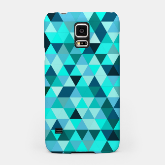 Thumbnail image of Teal Triangles Pattern Samsung Case, Live Heroes