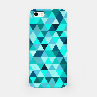 Thumbnail image of Teal Triangles Pattern iPhone Case, Live Heroes