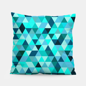Thumbnail image of Teal Triangles Pattern Pillow, Live Heroes
