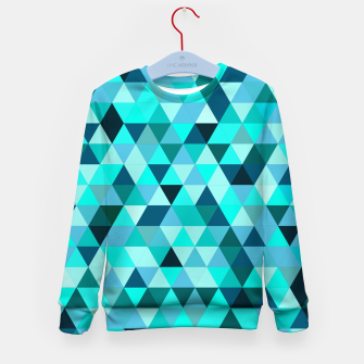 Thumbnail image of Teal Triangles Pattern Kid's sweater, Live Heroes