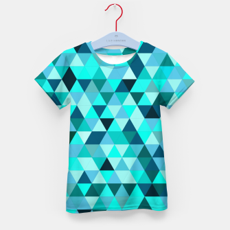 Thumbnail image of Teal Triangles Pattern Kid's t-shirt, Live Heroes