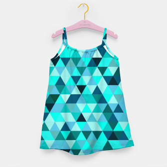 Thumbnail image of Teal Triangles Pattern Girl's dress, Live Heroes