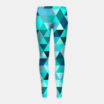 Thumbnail image of Teal Triangles Pattern Girl's leggings, Live Heroes