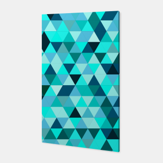 Thumbnail image of Teal Triangles Pattern Canvas, Live Heroes