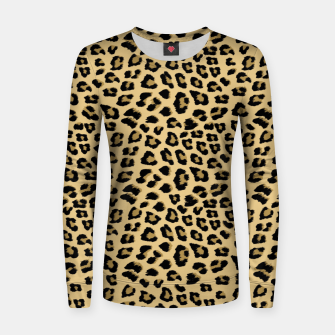Thumbnail image of Cute Leopard Animal Print Pattern Women sweater, Live Heroes