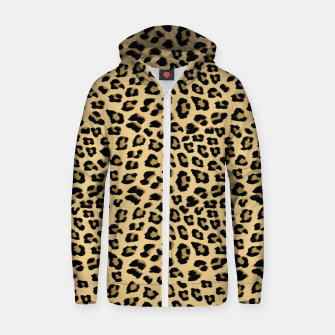 Thumbnail image of Cute Leopard Animal Print Pattern Zip up hoodie, Live Heroes