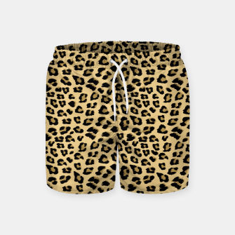 Thumbnail image of Cute Leopard Animal Print Pattern Swim Shorts, Live Heroes