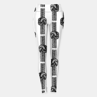 Thumbnail image of True Lover's Knot Pattern Leggings, Live Heroes