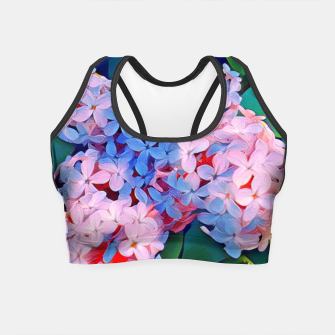 Thumbnail image of lilac violet Crop Top, Live Heroes