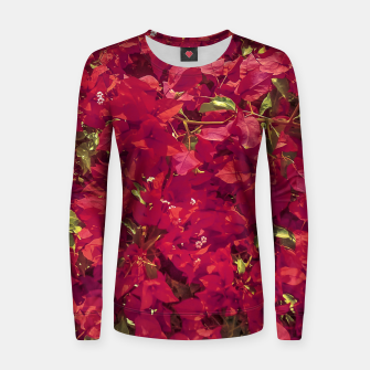 Thumbnail image of Red Flowers Pattern Photo Women sweater, Live Heroes