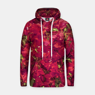 Thumbnail image of Red Flowers Pattern Photo Hoodie, Live Heroes