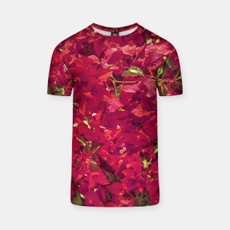 Thumbnail image of Red Flowers Pattern Photo T-shirt, Live Heroes