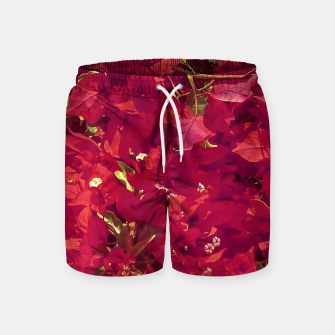 Thumbnail image of Red Flowers Pattern Photo Swim Shorts, Live Heroes