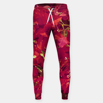 Thumbnail image of Red Flowers Pattern Photo Sweatpants, Live Heroes