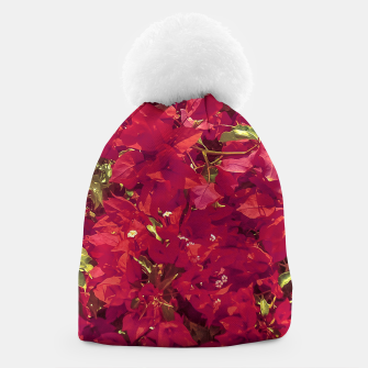 Thumbnail image of Red Flowers Pattern Photo Beanie, Live Heroes