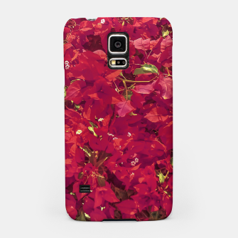 Thumbnail image of Red Flowers Pattern Photo Samsung Case, Live Heroes