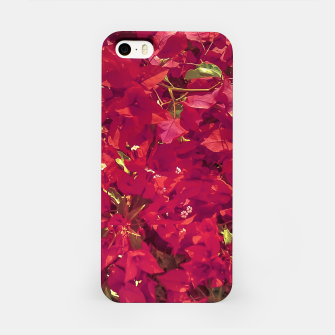 Thumbnail image of Red Flowers Pattern Photo iPhone Case, Live Heroes