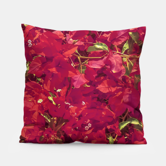 Thumbnail image of Red Flowers Pattern Photo Pillow, Live Heroes