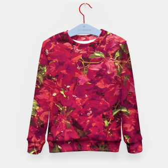 Thumbnail image of Red Flowers Pattern Photo Kid's sweater, Live Heroes