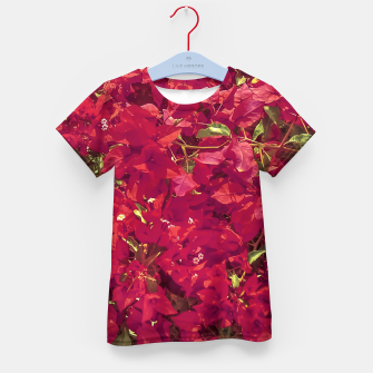 Thumbnail image of Red Flowers Pattern Photo Kid's t-shirt, Live Heroes