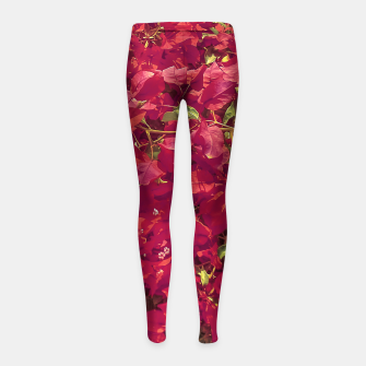 Thumbnail image of Red Flowers Pattern Photo Girl's leggings, Live Heroes