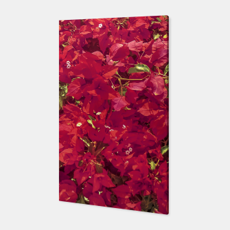 Thumbnail image of Red Flowers Pattern Photo Canvas, Live Heroes