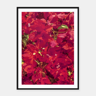 Thumbnail image of Red Flowers Pattern Photo Framed poster, Live Heroes