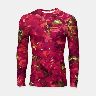 Thumbnail image of Red Flowers Pattern Photo Longsleeve rashguard , Live Heroes