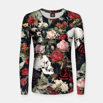Miniature de image de Vintage Floral With Skulls Women sweater, Live Heroes