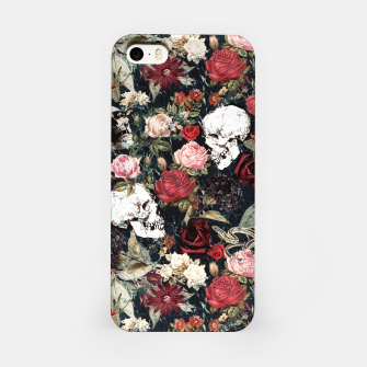 Miniature de image de Vintage Floral With Skulls iPhone Case, Live Heroes