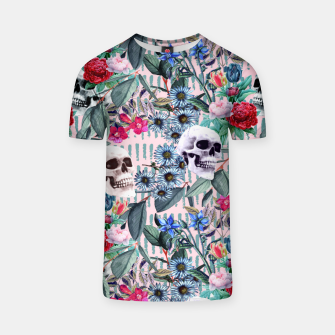 Miniature de image de Flowers and Skulls (Pink) T-shirt, Live Heroes