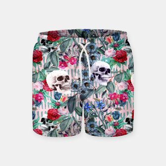 Miniature de image de Flowers and Skulls (Pink) Swim Shorts, Live Heroes