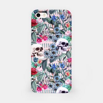 Miniature de image de Flowers and Skulls (Pink) iPhone Case, Live Heroes
