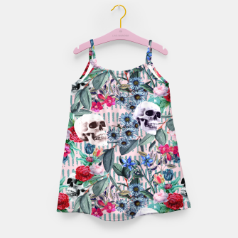Miniature de image de Flowers and Skulls (Pink) Girl's dress, Live Heroes