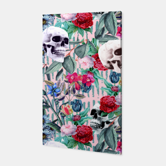 Miniature de image de Flowers and Skulls (Pink) Canvas, Live Heroes
