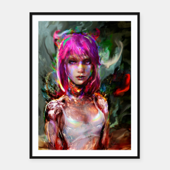 Thumbnail image of cyberpunk  Framed poster, Live Heroes