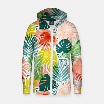 Thumbnail image of Tropical Garden Zip up hoodie, Live Heroes