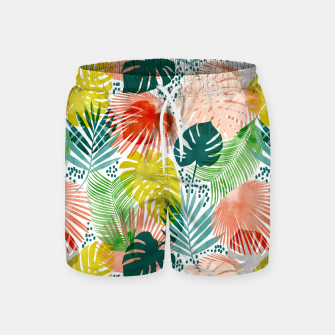 Thumbnail image of Tropical Garden Swim Shorts, Live Heroes