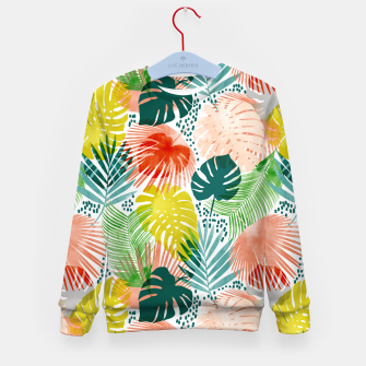 Thumbnail image of Tropical Garden Kid's sweater, Live Heroes