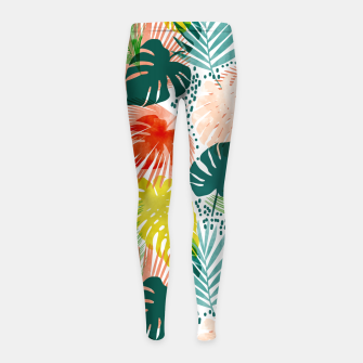 Thumbnail image of Tropical Garden Girl's leggings, Live Heroes