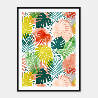 Thumbnail image of Tropical Garden Framed poster, Live Heroes