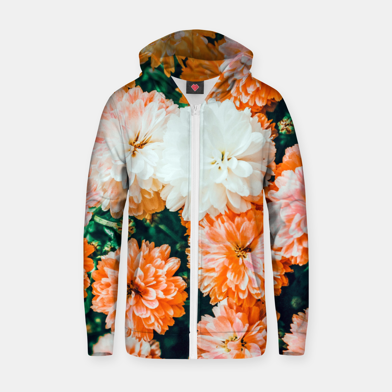 Image of Garden Song Zip up hoodie - Live Heroes