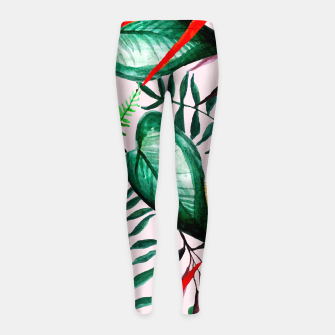 Thumbnail image of Paradise Dreams Girl's leggings, Live Heroes