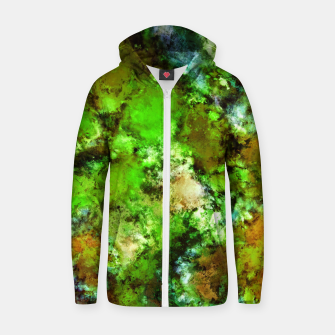 Thumbnail image of Green scene Zip up hoodie, Live Heroes