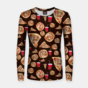 Thumbnail image of Pizza Pattern Women sweater, Live Heroes