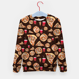 Thumbnail image of Pizza Pattern Kid's sweater, Live Heroes