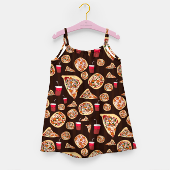 Thumbnail image of Pizza Pattern Girl's dress, Live Heroes