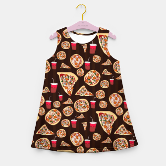 Thumbnail image of Pizza Pattern Girl's summer dress, Live Heroes