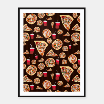 Thumbnail image of Pizza Pattern Framed poster, Live Heroes